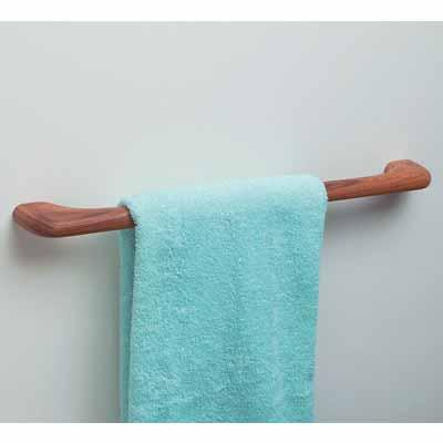 "WHITE CAP TEAK 14"" TOWEL BAR"
